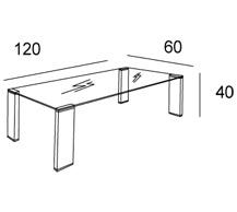 Medidas mesa centro capri
