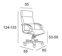Medidas sillón oficina Classic P