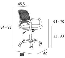 Medidas silla oficina Energy