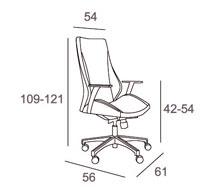 Medidas sillón oficina Flamenco