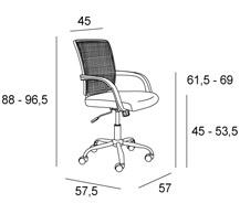 Medidas silla oficina Nemesis