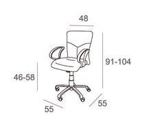 Medidas sillón de oficina geo