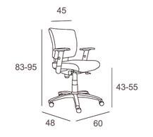 Medidas sillón oficina salomon