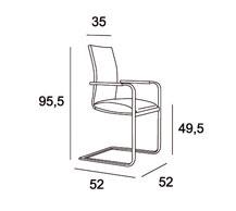 Medidas silla comedor sinatra