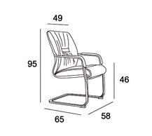 Medidas sillón confidente Vinci V