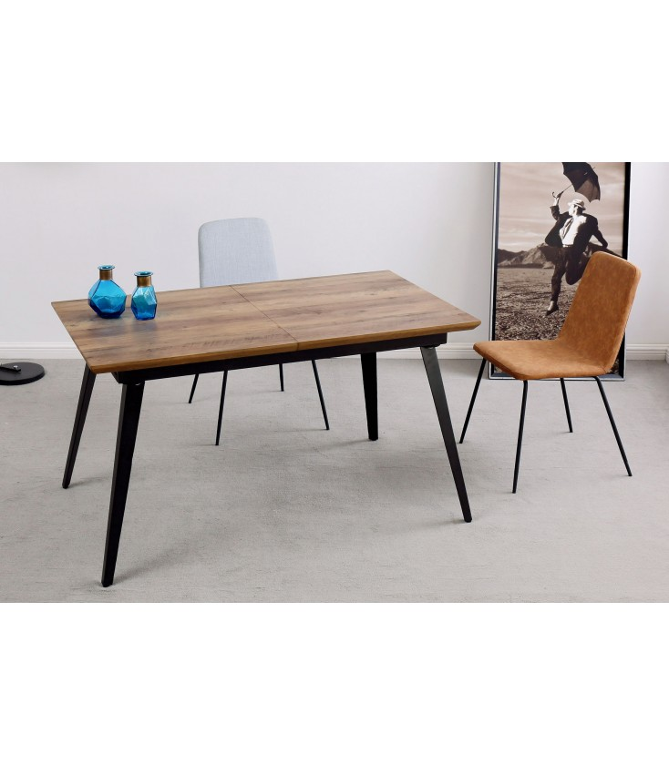 Mesa Comedor Extensible Branch Nogal/Negro