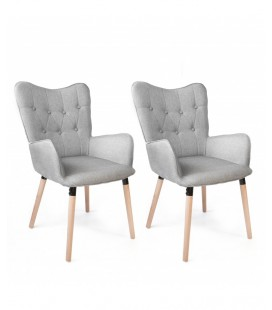 Pack 2 Sillones Claire Gris