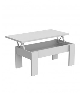 Mesa Centro Elevable Alpha Blanco
