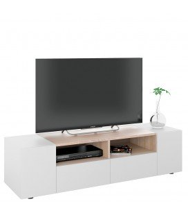 Mueble TV Enzo Blanco Artik Roble 130x54