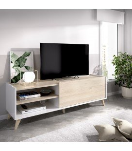 Mueble Bajo TV Ness Blanco/Natural