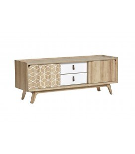 Mueble Tv Java Roble/Blanco