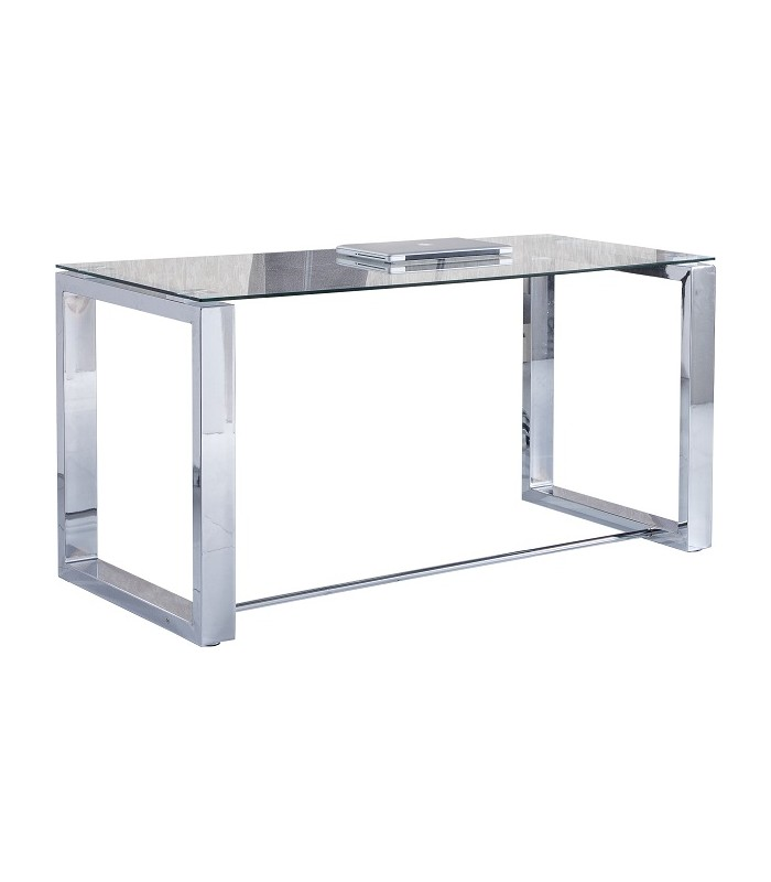 Mesa de Despacho Office - acero - cristal | Mueblesparamicasa