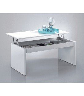 Mesa Centro Elevable Zenit Blanco Brillo